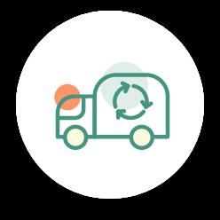 Illustration d'un camion recyclable.