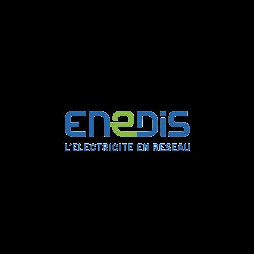 Le logo de Enedis.