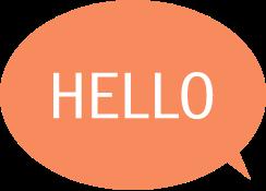 """Une illustration d'une bulle avec écrit """"Hello""""."""