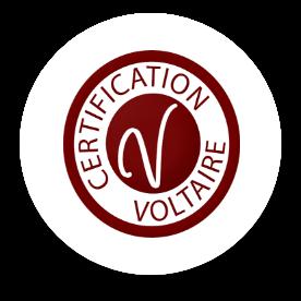 Le logo de : La certification Voltaire.