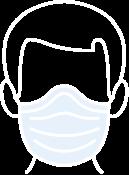 Illustration d'un homme portant un masque EPI.
