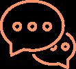 Illustration de deux bulles pour représenter le dialogue.