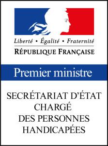 Le logo du Logo Secrétariat d'Etat Chargé des Personnes Handicapées.