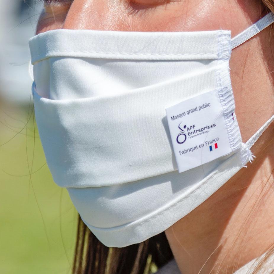 Les masques EPI de APF Entreprises 64.